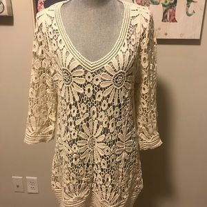 Other - Cream Bathing Suit Coverup or Tunic